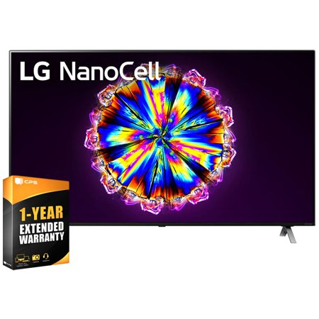 LG 55NANO90UNA 55inch Nano 9 Series Class 4K Smart UHD NanoCell TV with AI ThinQ 2020 Bundle with 1 Year Extended Warranty(55NANO90 55 TV)