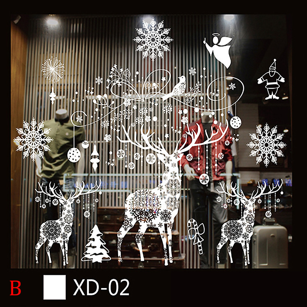 Christmas Snowman Removable Home Vinyl Window Wall Stickers Decal Decor B