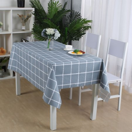 "Tablecloth PVC Oil Stain Resistant Plaid Pattern for Rectangle Table 54""x79"",#1 - image 4 de 7"