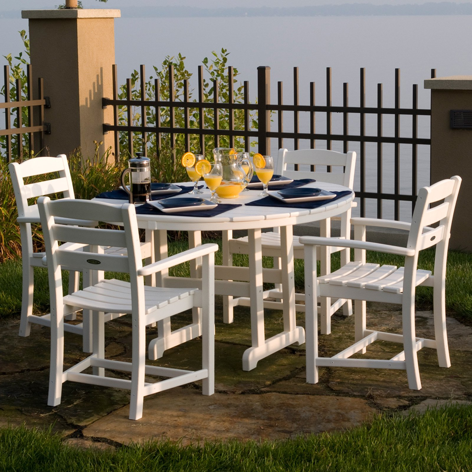 Genial POLYWOOD® La Casa Cafe Dining Set   Seats 4