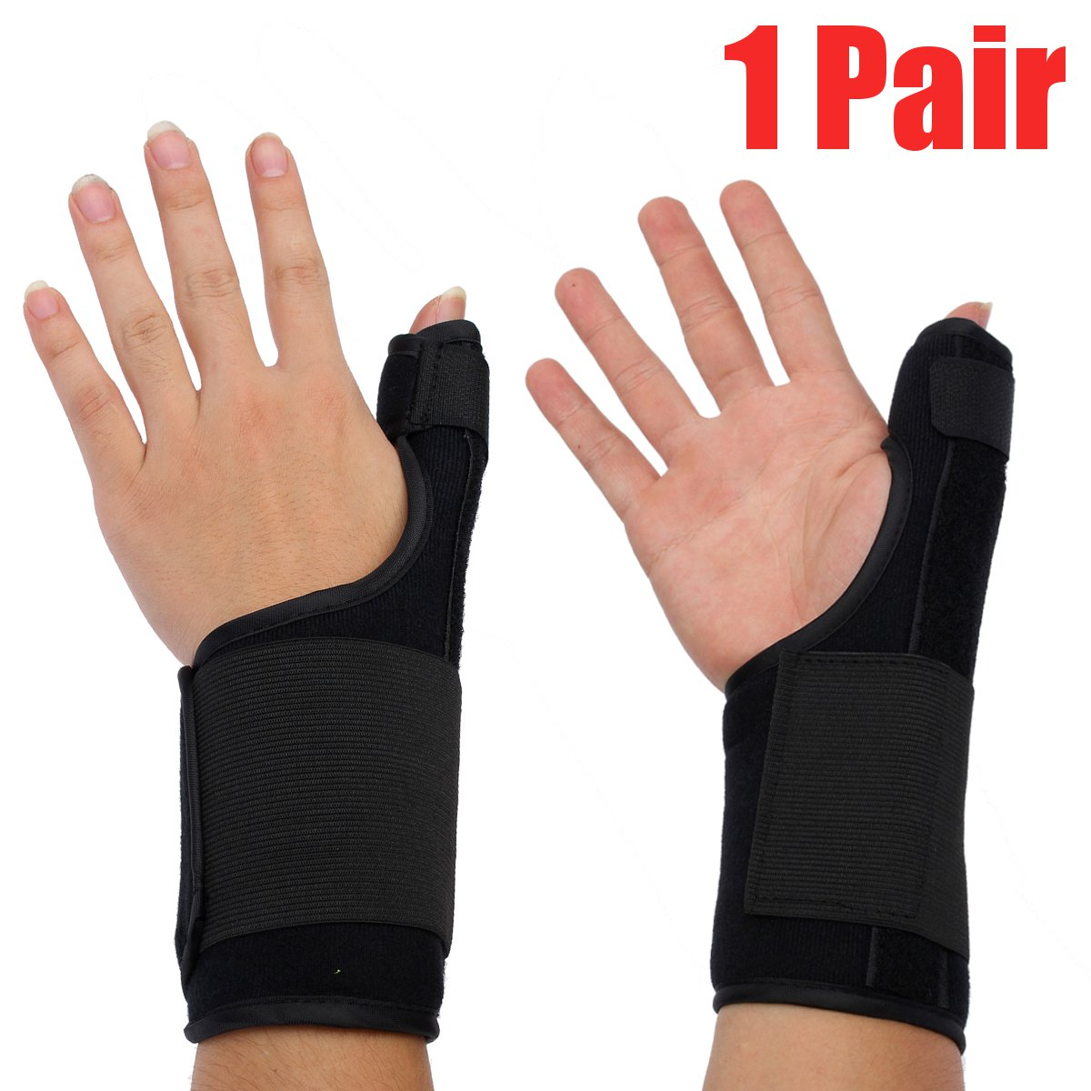 2X Arthritis Thumb Splint Thumb Spica Support Brace for Pain Sprains Strains Arthritis Carpal Tunnel Trigger Thumb Immobilizer Wrist Strap Left or Right Hand