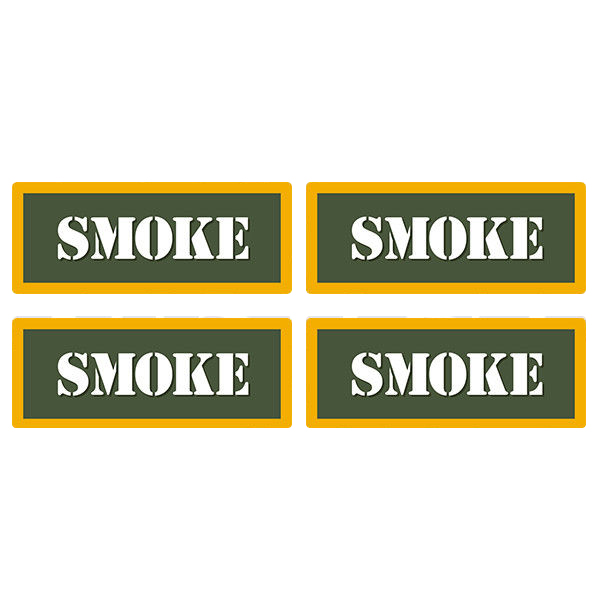 "Smoke Ammo Can 4 Pack 3"" Olive OD Sticker Gun Ammunition Box Case Decal"