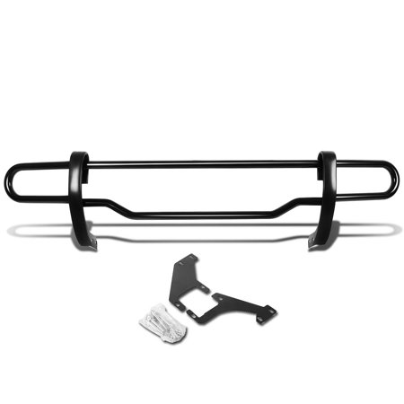 For 1998 to 2005 Mercedes M -Class W163 Stainless Steel Double Bar Rear Bumper Protector Guard (Black) 99 00 01 02 03 04 (2005 Tacoma Rear Bumper)
