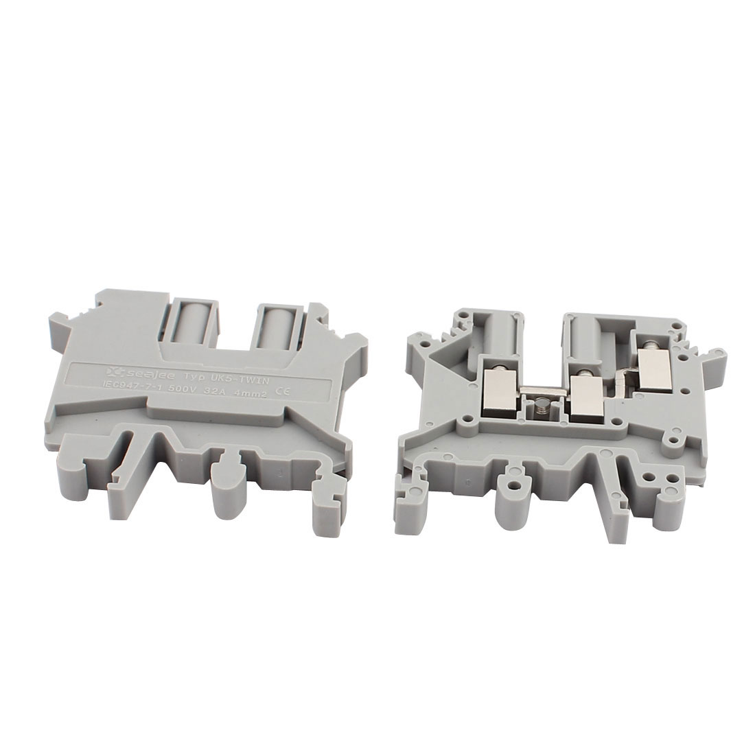 25Pcs UK-5TWIN DIN Rail Mount  One Inlet Double Outlet Terminal Block 500V 32A - image 1 of 3