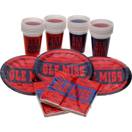 Ole Miss Rebels Party Pack for 24 - No Size - Ole Miss Party Supplies