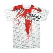 Avenged Sevenfold Men's  Blood All Over Print T-shirt White