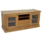 TV Console in Rustic Mango Natural Finish