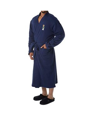 765869be Product Image Polo Ralph Lauren Men's Long Sleeve Fleece Kimono Robe Cruise  Navy Toggle Bear Large/X