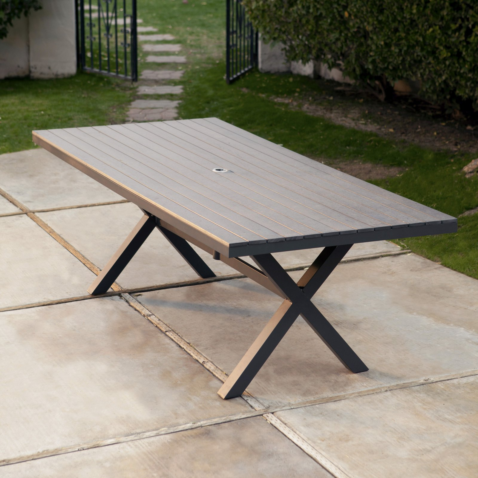 Belham Living Bella All Weather Resin Patio Dining Table   Walmart.com