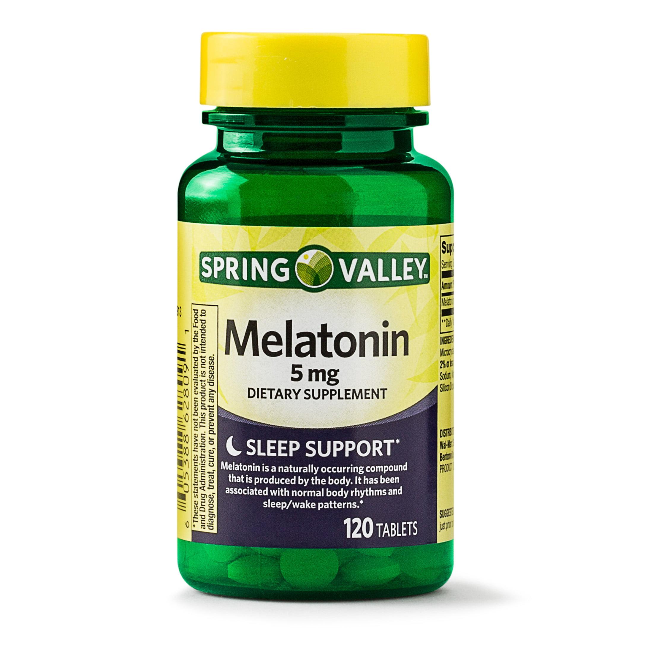 Spring Valley Melatonin Tablets, 5 mg, 120 Ct