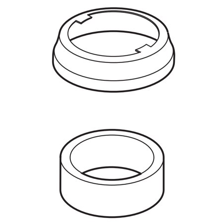 Delta RP60962-RB Escutcheon and Gasket Single Handle Kitchen from the Linden Collection (Linden Escutcheon)