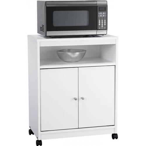 Ameriwood Home Landry Microwave Cart, White