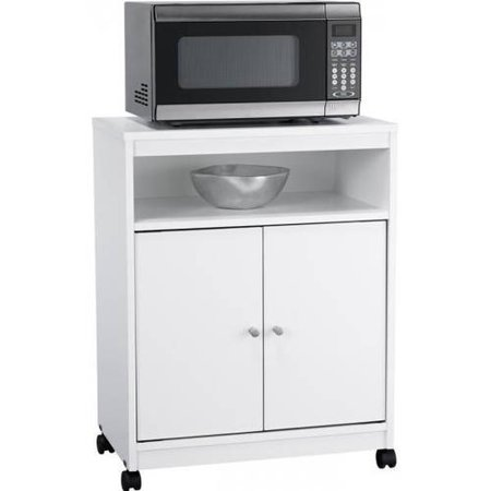 Ameriwood Home Landry Microwave Kitchen Cart, White