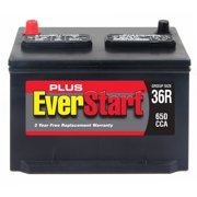 EverStart Plus Lead Acid Automotive Battery, Group Size 36R-3