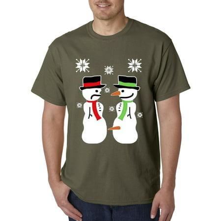 Carrot Gold Stix (New Way 591 - Unisex T-Shirt Two Snowmen Christmas Carrot Parts )