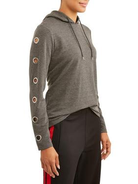 4b11697ed49d Product Image Women s Athleisure Grommet Sleeve Sweatshirt