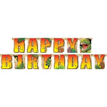 Dinosaur Adventure Banner (each) - Party Supplies (Customized Banners For Party)