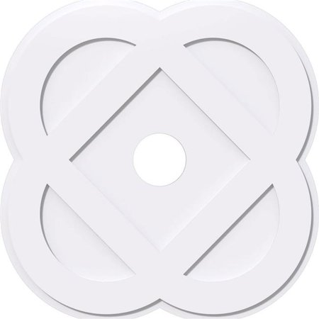 Ekena Millwork CMP32CE-05000 32 in. OD x 5 in. ID Square Charlotte Architectural Grade PVC Contemporary Ceiling Medallion - image 1 of 1
