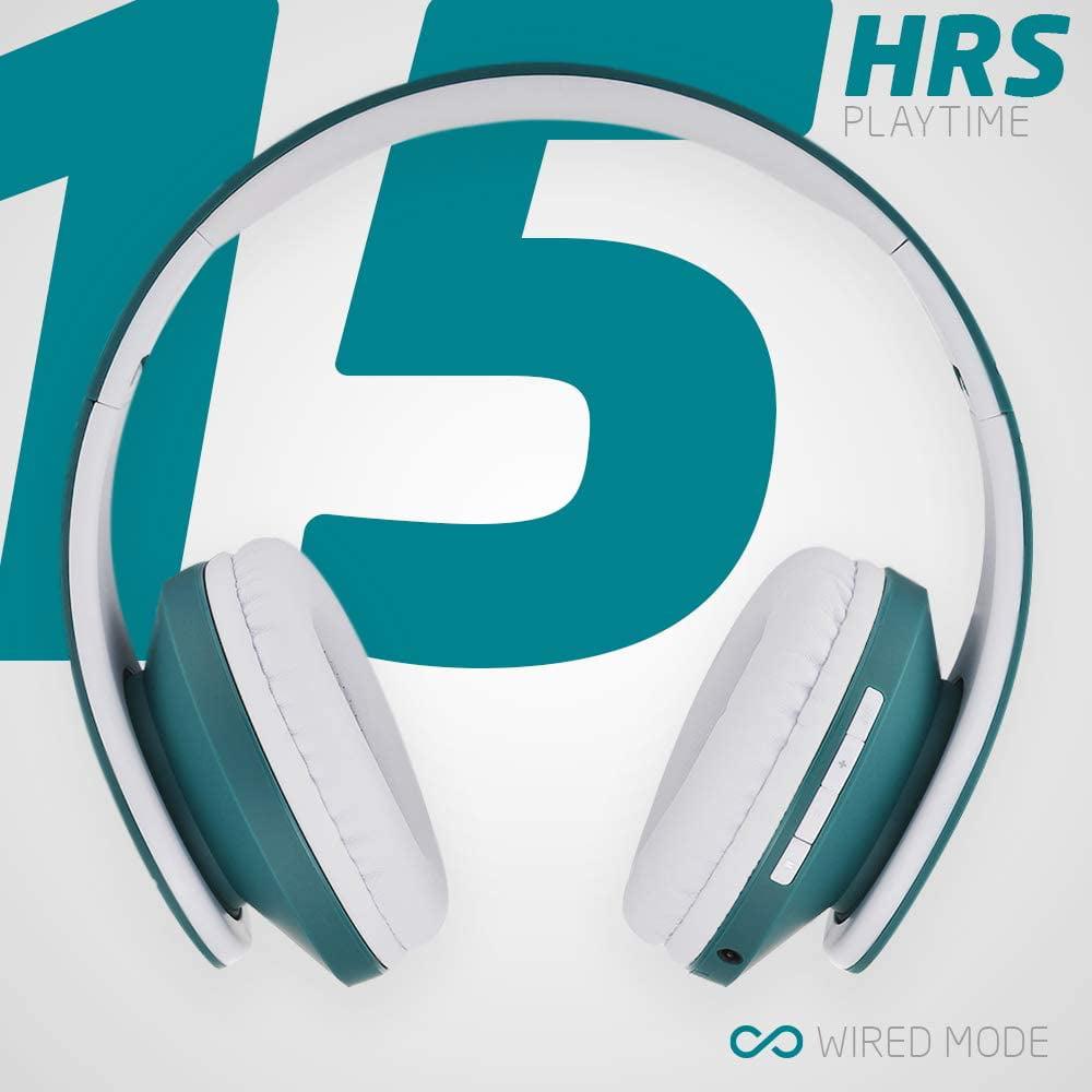 Powerlocus Bluetooth Over Ear Headphones Wireless Stereo Foldable Headphones Wireless And Wired Headsets With Built In Walmart Canada