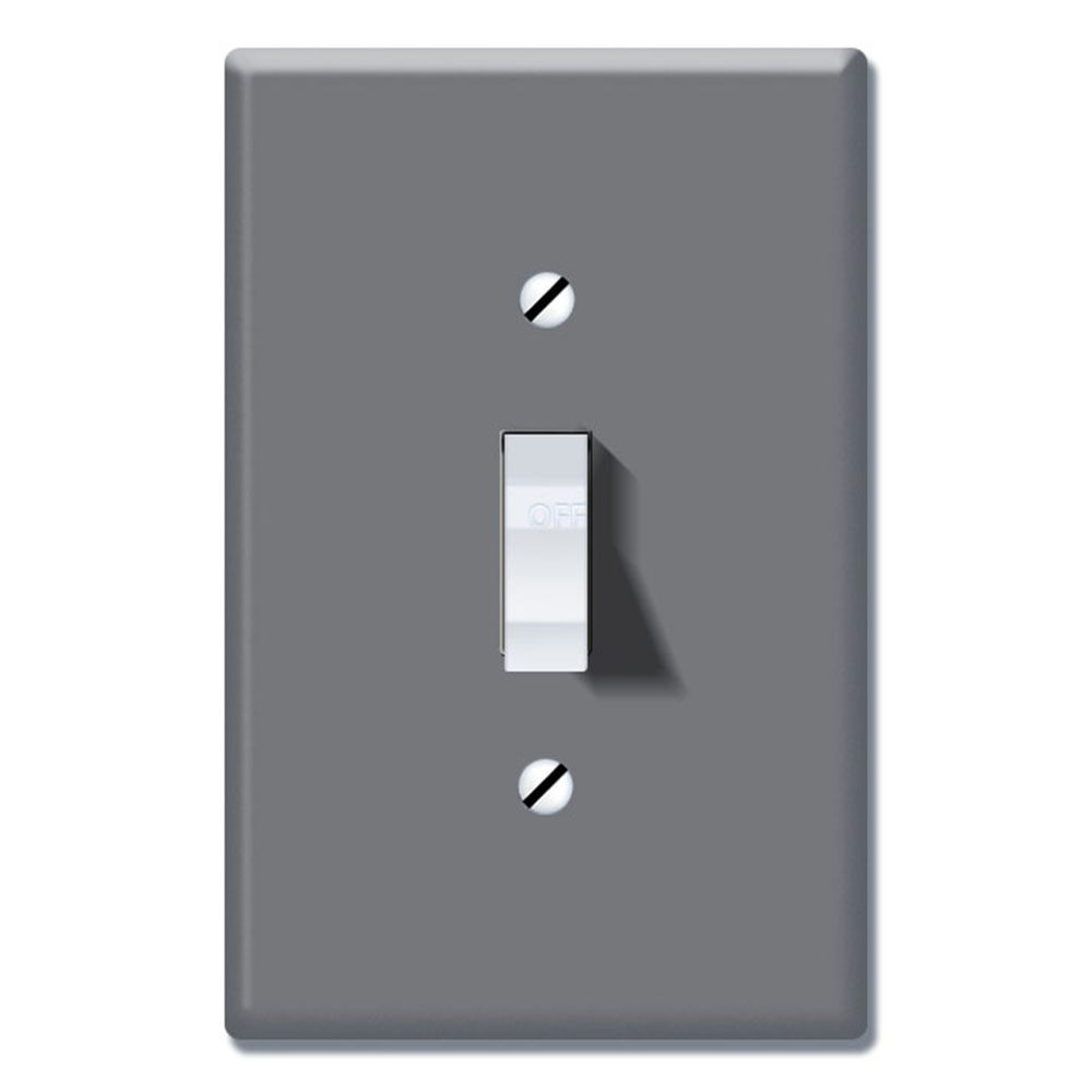 Wirester 1 Gang Toggle Light Switch Wall Plate Switch Plate Cover Solid Dark Gray Walmart Com Walmart Com