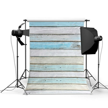 NK HOME Studio Photo Video Photography Backdrops 3x5ft Retro Two Toned Wood Planks Printed Vinyl Fabric Background Screen Props](Retro Microphone Prop)