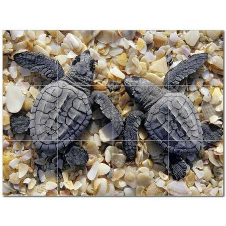 Turtle Ceramic Tile Mural Kitchen Backsplash Bathroom Shower 402928 L4