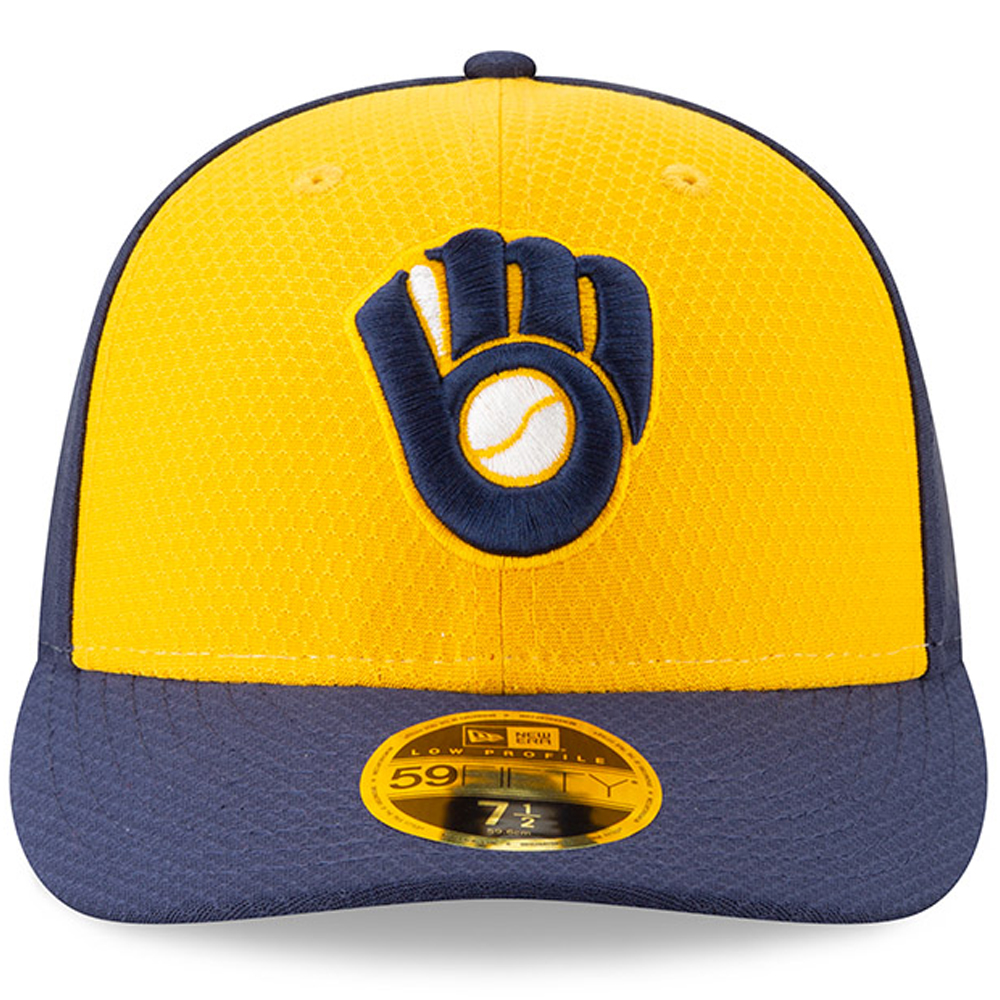 classic fit 1ef27 3d3bc Milwaukee Brewers New Era 2019 Batting Practice Alternate Low Profile  59FIFTY Fitted Hat - Yellow Blue - Walmart.com