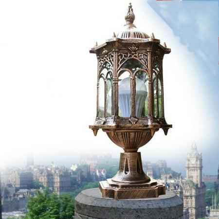 Meigar Outdoor Garden Outside Wall Light Lamp Post Lanterns Pillar Light Porch Lighting ()