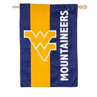 "West Virginia Mountaineers 28"" x 44"" Double-Sided Embellish House Flag"