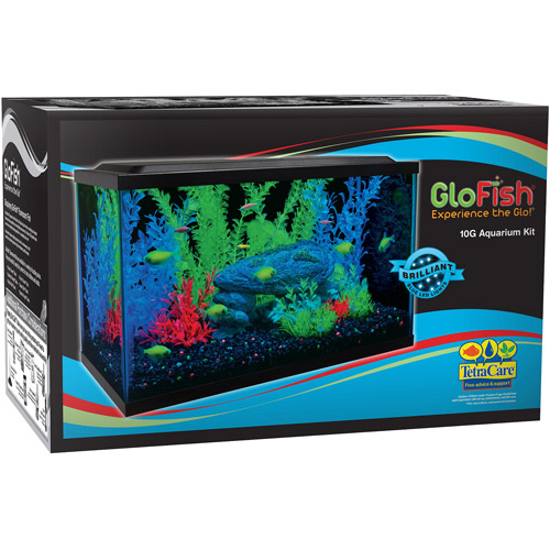 GloFish 10 Gallon Aquarium Kit with Heater, Filter, Conditioner, and Food - Walmart.com