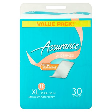 Assurance Incontinence Pads Unisex  Maximum  Xl  30 Ct