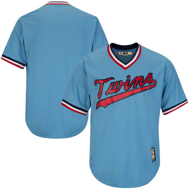Minnesota Twins Majestic Cooperstown Cool Base Team Jersey - Light Blue