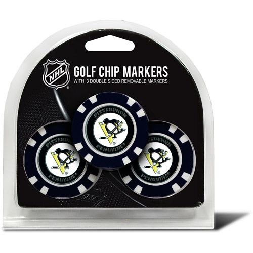 Team Golf NHL Pittsburgh Penguins 3 Pack Golf Chip Ball Markers