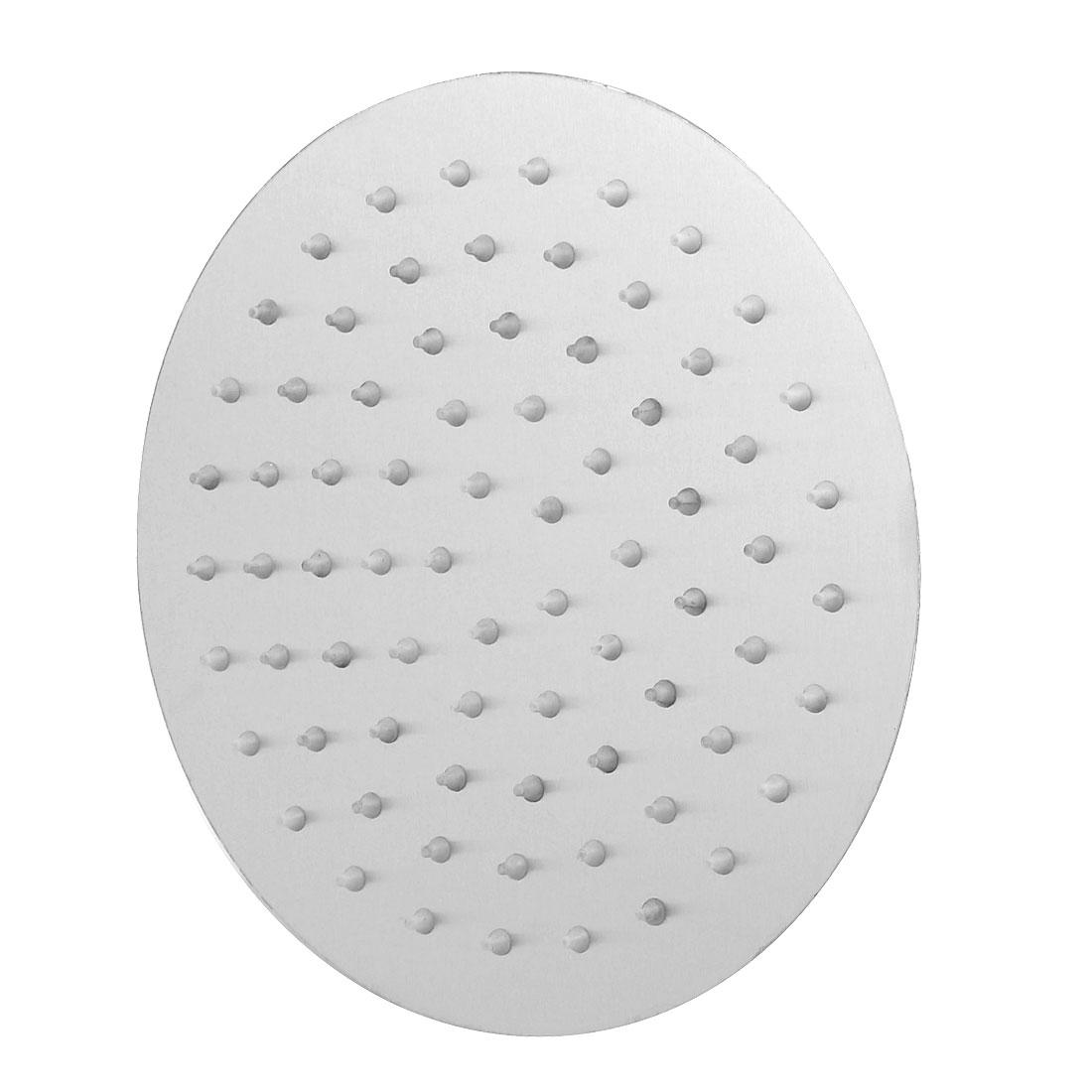 Bathroom 304 Stainless Steel Round Top Spray Shower Bathing Head Silver Tone