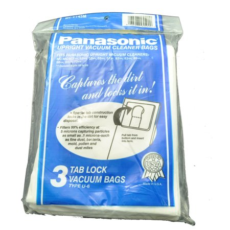 Panasonic Type U-6 Upriht Vacuum Cleaner Bags