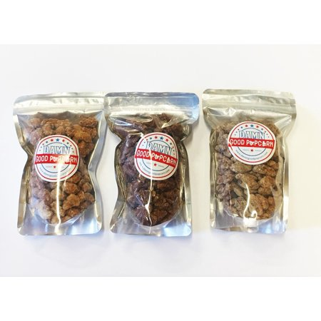 3 Packs of Frosted Candied Cinnamon Vanilla Nuts Pecans, Cashews and Walnuts ()