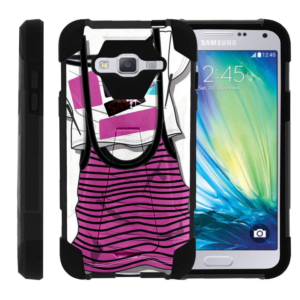 Samsung Galaxy J3 |Amp Prime | Express Prime| Samsung Sol| J3V Case Durable Hybrid SHOCK Impact Kickstand Case with Art Pattern Designs by Miniturtle® - Enveloping Green