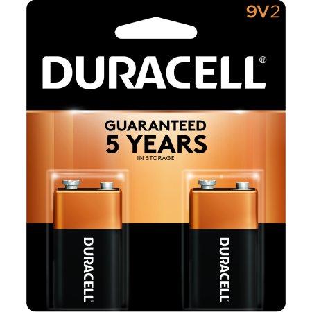 Duracell Coppertop Alkaline Batteries  9V  2 Pk