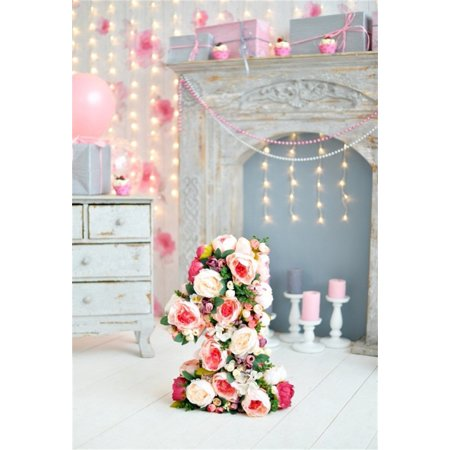 HelloDecor Polyster 5x7ft Baby 1st Birthday Backdrop Mantel Candle Party Decoration Photography Background Child Infant Girl Artistic Portrait Indoor Photo Shoot Studio Props Video - Halloween Photo Shoot Ideas For Infants