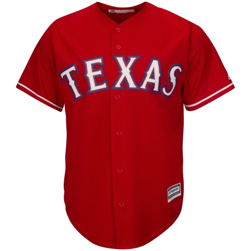 Texas Rangers Majestic Youth Official Cool Base Jersey - Scarlet
