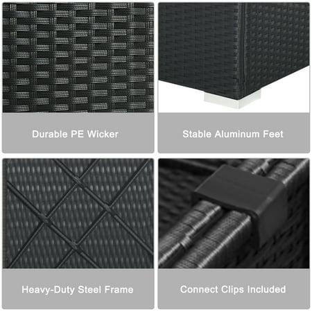 Gymax 7PCS Rattan Patio Conversation Set Sectional Furniture Set w/ Blue Cushion - image 10 of 10