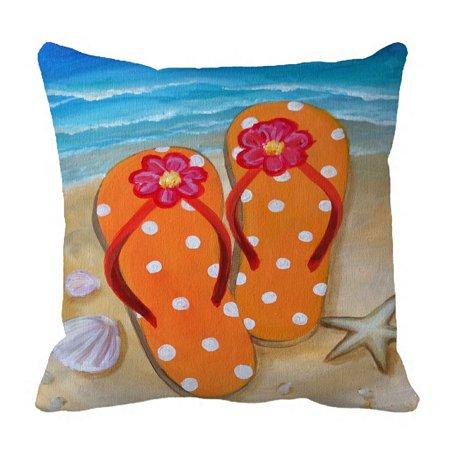 d84f178186fa2b ZKGK Beach Flip Flops Pillowcase Home Decor Pillow Cover Case Cushion Two  Sides 20x20 Inches - Walmart.com