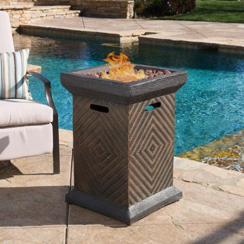 Christopher Knight Home Mendocino Outdoor 19-inch Column Liquid Propane Firepit with Lava... by Firepits