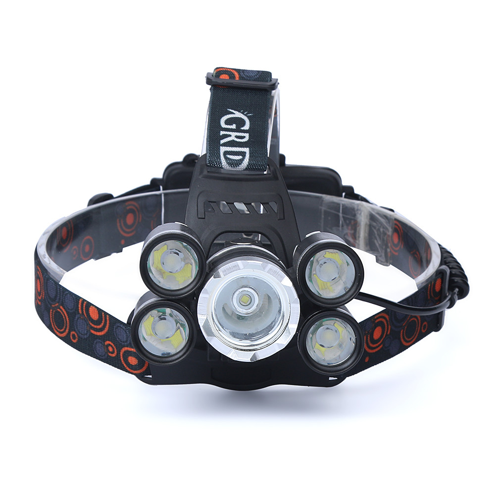 35000LM 5x XM-L T6 LED Headlamp Headlight Flashlight Head Light Lamp 18650