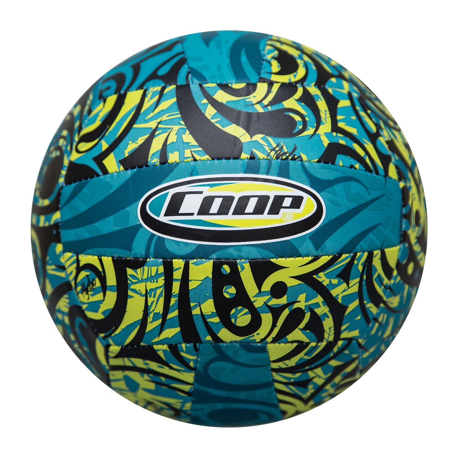 """8"""" Tribal Lime and Turquoise High Performance Hydro Volleyball Swimming Pool Toy by Swim Way"""