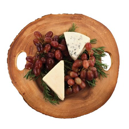Small Cheese Board, Rustic Farmhouse Serving Cutting Cheese Board, Acacia Wood ()