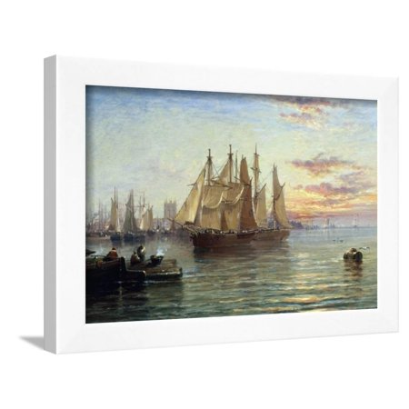 Shipping Below Hull, Evening Framed Print Wall Art By Arthur J. Meadows