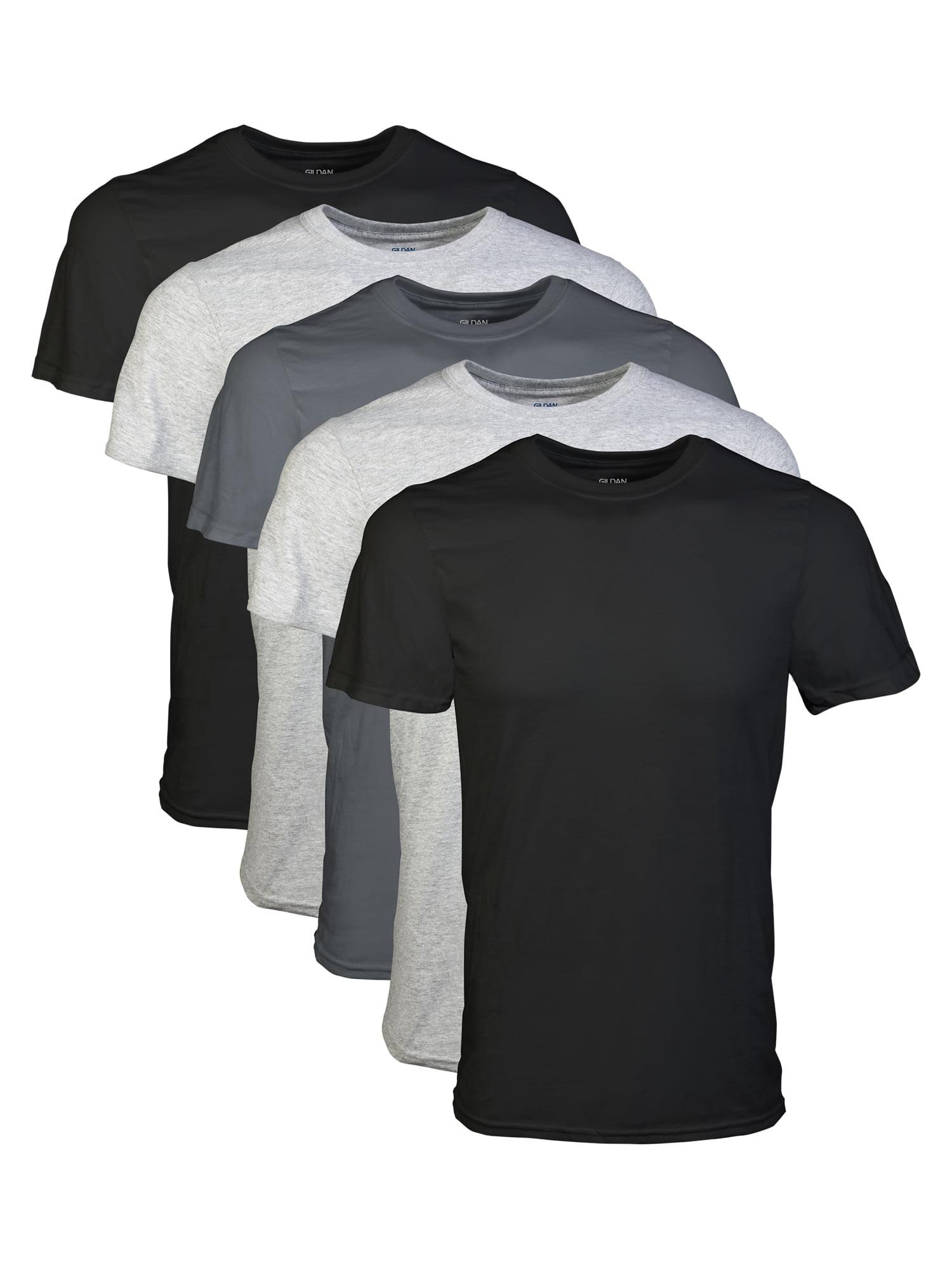 10c67c55b Mens Short Sleeve Crew Assorted Color T-Shirt, 5-Pack