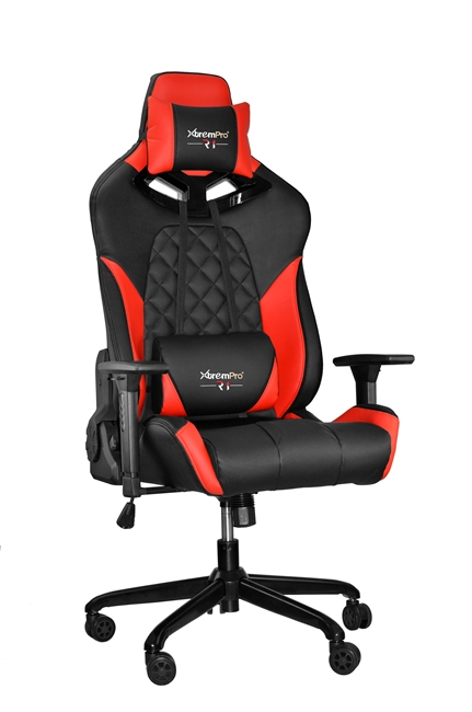 Race Style Rgb Lights Gaming Chair With Lumbar Support Red
