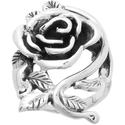 Brinley Co. Rose Ring in Sterling Silver